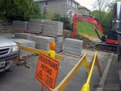 Interlock Landscaping Retaining Wall and Flower Bed by jamROCK Ltd. - Ottawa, Ontario