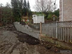Interlock Landscaping Retaining Wall and Flower Bed by jamROCK Ltd. - Ottawa, Ontario